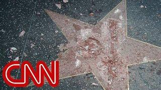 Trump's Hollywood star destroyed