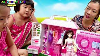 barbie dolls toys videos , đồ chơi búp bê barbie và tủ đồ phụ kiện xinh đẹp