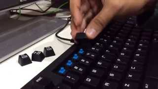 How to remove a key cap from a mechanical keyboard without a key cap puller / tool