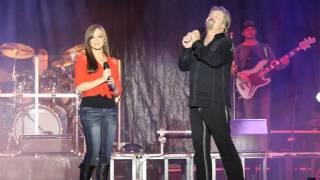 Travis Tritt Sings with his daughter at the North GA  Fair