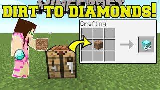 Minecraft: DIRT TO DIAMONDS!! (ULTIMATE CHEATING!!!) Mod Showcase