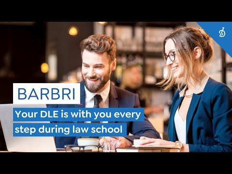 Your BARBRI DLE is with you every step during law school.