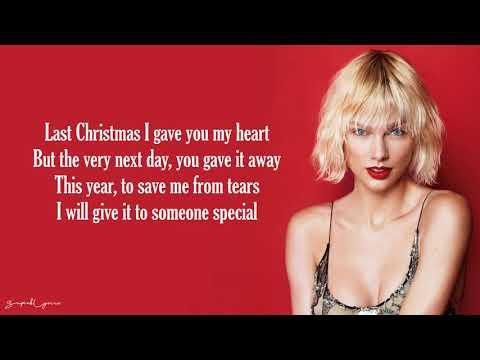 Last Christmas - Taylor Swift (Lyrics)