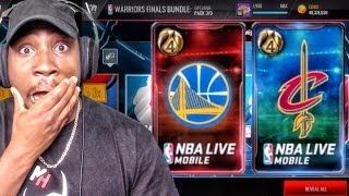WARRIORS & CAVALIERS NBA FINALS PACK OPENING! NBA Live Mobile 16 Gameplay Ep. 125
