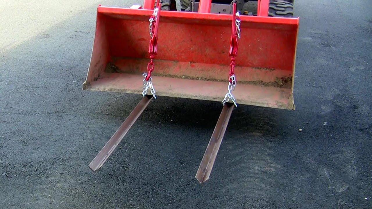 Homemade Pallet Forks For Tractor On Bx25 Kubota Youtube