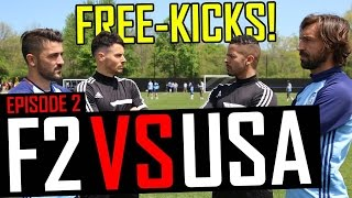 Pirlo & Villa Free-Kick Masterclass | F2 vs USA | Episode 2