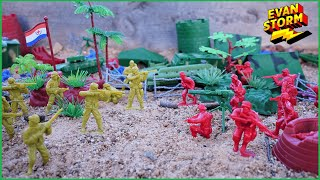 Plastic Army Men Call of Duty Toys Pretend Play in the Sandbox with  Plastic Helicopters and Tanks