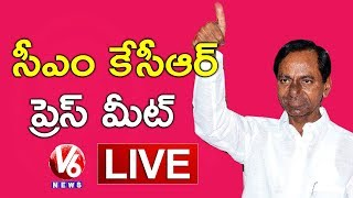 CM KCR Press Meet LIVE   Elected As TRSLP Leader   V6 News