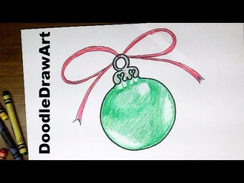 Drawing How To Draw A Christmas Tree Ornament Easy