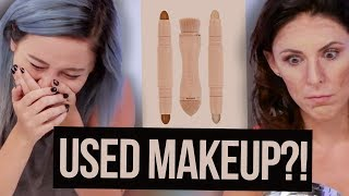 We Got Sold USED KKW Beauty Makeup Off Ebay?! (Beauty Break)