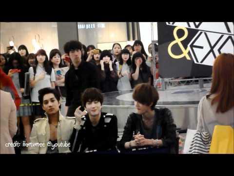 [FANCAM] 120525 EXO Chanyeol, Kai, Suho, Sehun @ Yeongdeungpo (영등포) Hottracks Fansign