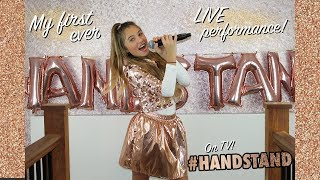 MY FIRST LIVE TV PERFORMANCE ON CBBC (behind the scenes) | Rosie McClelland