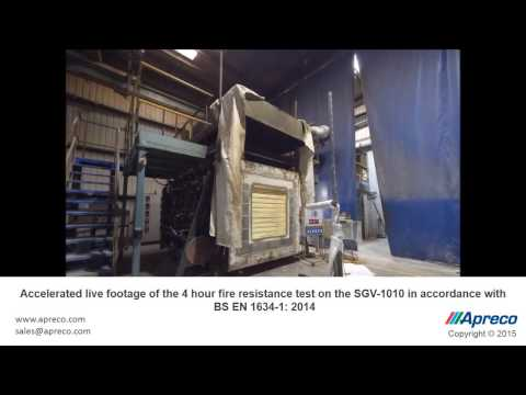 SGV ewcl5 4 Hour Fire Resistance Test