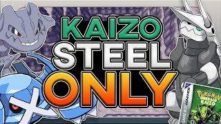 Can You Beat Pokemon Emerald Kaizo With Only Steel Types?! (No Items, HARDEST ROM HACK EVER)