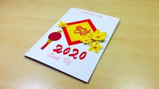 Hướng dẫn cách làm thiệp chúc mừng năm mới 2020