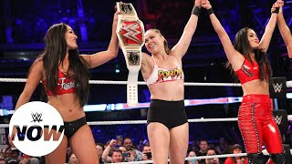 Ronda Rousey decimates all of The Riott Squad: WWE Super Show-Down 2018 (WWE Network Exclusive)