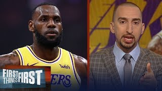 Nick Wright on LeBron feeling the pressure of the Lakers' early struggles | NBA | FIRST THINGS FIRST