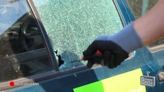 Rennsteig automatic center punch used as an emergency car window breaker
