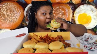 ANGUS CHEESEBURGER SLIDERS, HOT WINGS & ONION RINGS| BURGER IM