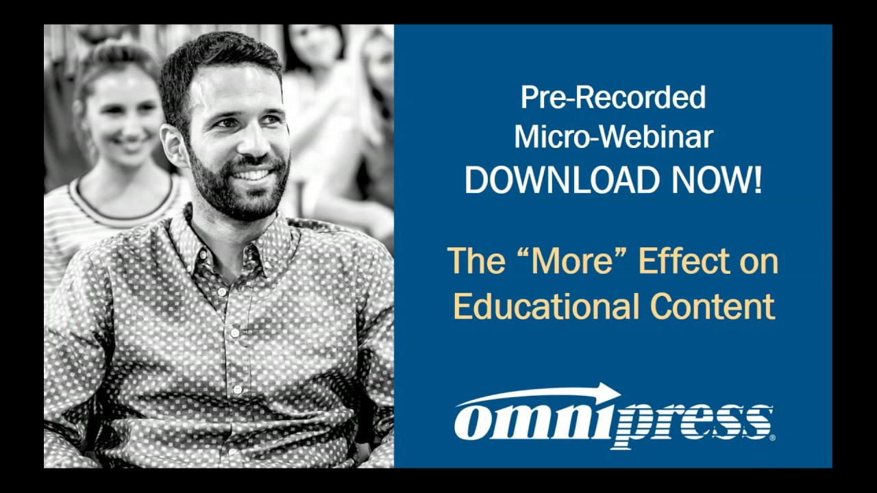 "Link to The ""More"" Effect on Educational Content Webinar"