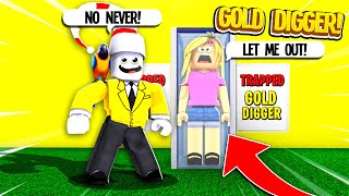 I Caught A GOLD DIGGER Pretending My Restaurant Was Hers.. SO I TRAPPED HER.. (Roblox)