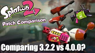 Splatoon 2 - Patch Differences & Thoughts of 3.2.2 vs 4.0.0?!