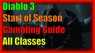 Diablo 3 Gambling Guide Season 15 :: Start Season 15 Leveling Fast