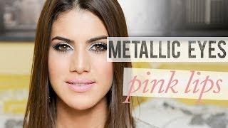 Metallic Eyes & Pink Lips Look, date, datenight, romantic, metallic, silver, pink