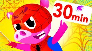 Spiderman Sing Along Songs, Awesome Marvel, Captain America Hulk IronMan Compilation by Little Angel