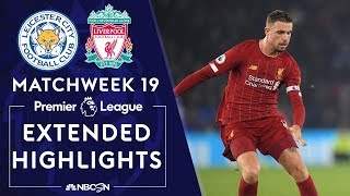 Leicester City v. Liverpool | PREMIER LEAGUE HIGHLIGHTS | 12/26/19 | NBC Sports
