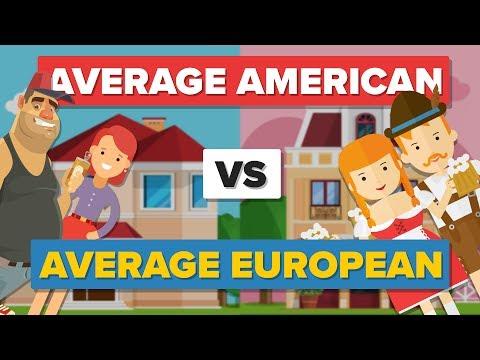 Average American vs Average European (2017) - How Do They Compare? - People Comparison