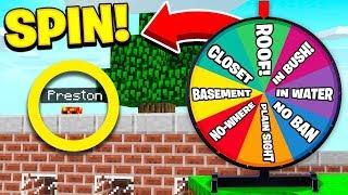 WORST LUCK EVER! | Wheel of Fortune in HIDE & SEEK! - Minecraft Mods