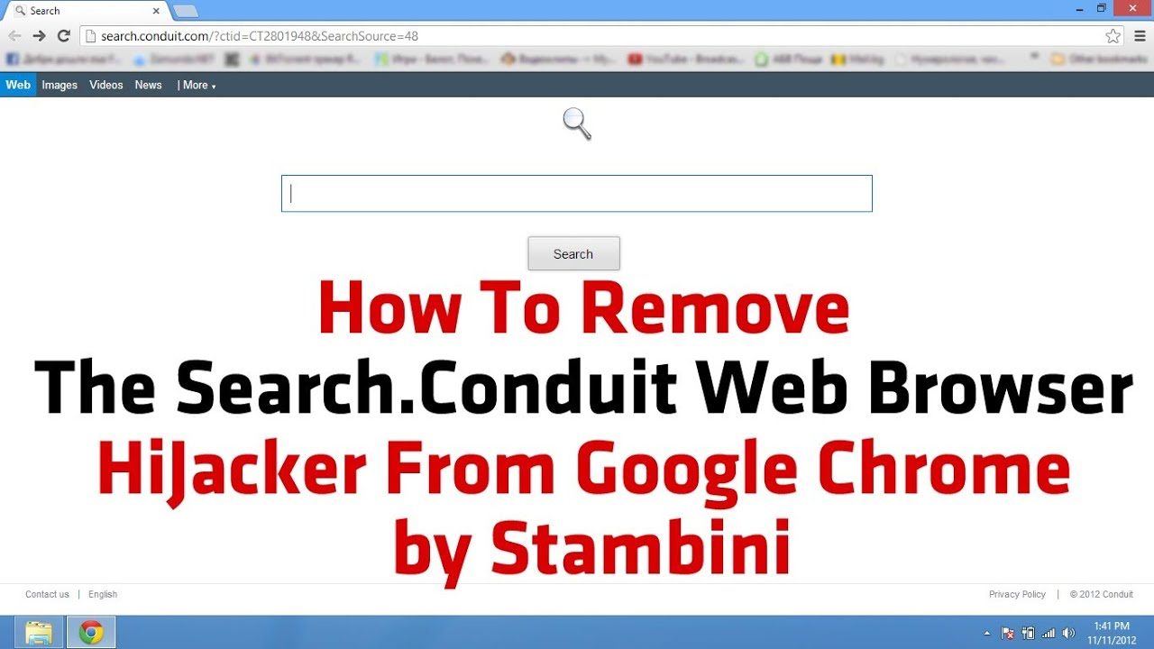 how to remove the search conduit web browser hijacker from google chrome by stambini youtube. Black Bedroom Furniture Sets. Home Design Ideas