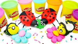 Play Doh creations for kids: Learn colors with Play Doh art and crafts