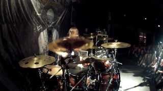 Fotis Benardo of SepticFlesh drums solo Czech Republic - Prague