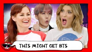 REACTING TO BTS FOR THE FIRST TIME (K-POP) with Grace Helbig & Mamrie Hart