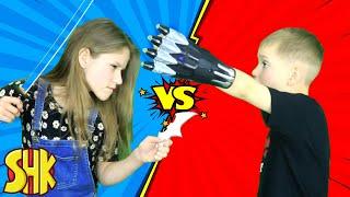 Batman vs Black Panther? SuperHero Kids Comics