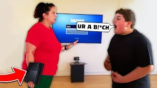 kid SLAPS mom to get PS4 back then.. (BIG MISTAKE)
