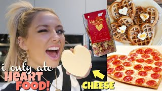 I ONLY ate HEART SHAPED FOODS for 24hours!! *Valentines edition*