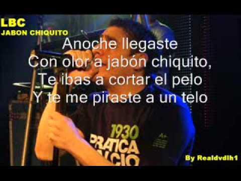 La banda de Carlitos Jabon chiquito Karaoke Letra