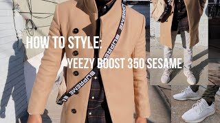 "How to style - Yeezy Boost 350 V2 ""Sesame"""