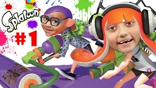 Lets Play SPLATOON Part 1: We Are So Not Fresh Yet!  Lair of the Octoballs Gameplay #cuttlefish