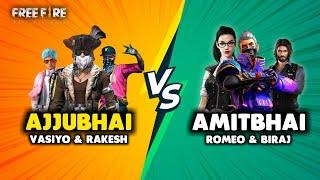 Three vs Three Best Game with Rakesh, Vasiyo, Romeo and Amitbhai - Garena Free Fire