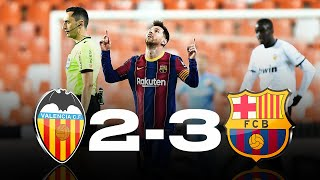 Valencia vs Barcelona [2-3], La Liga 2020/21 - MATCH REVIEW