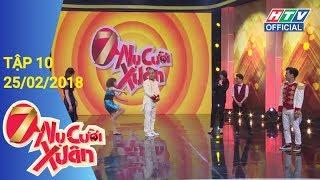 HTV 7 NỤ CƯỜI XUÂN | Trường Giang bất ngờ tiết lộ về người thứ ba | 7NCX #10 FULL | 25/02/2018