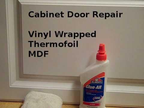 Repair Loose Vinyl Cabinet Door Edges Youtube