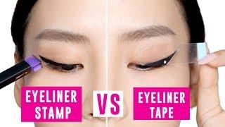 Eyeliner Tape Vs Eyeliner Stamp - Tina Tries It