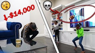 My Kids Pranked Me Busted My New $14,000 85 in Flat Screen Tv ( PRANK )