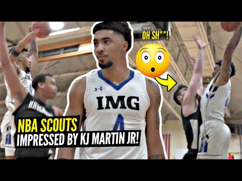 NBA Scouts IMPRESSED By Kenyon Martin Jr's 36 Points, 16 Rbs & CRAZY Athletic Ability For IMG!!