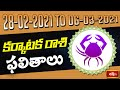 Cancer Weekly Horoscope By Dr Sankaramanchi Ramakrishna Sastry | 28 Feb 2021 - 06 Mar 2021